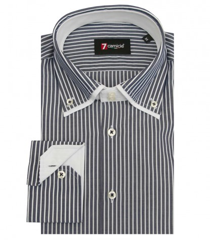 Shirt Marco Polo Poplin BlueWhite