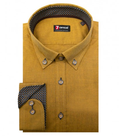 Shirt Leonardo Oxford Mustard