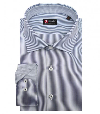Shirt Firenze Cotton White and Blue