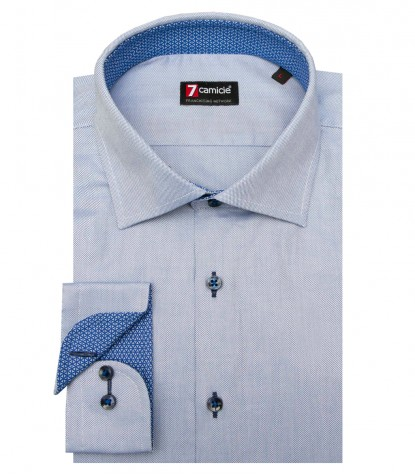 Camisas Firenze Oxford Azul Avion