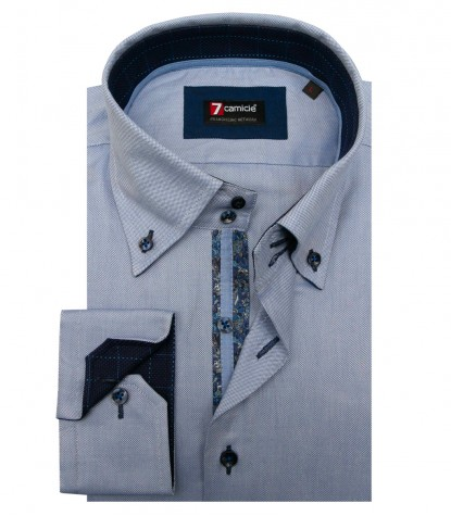 Shirt Roma Oxford Avion Blue