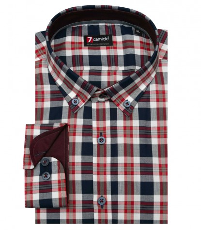 Shirt Leonardo Cotton BlueRed