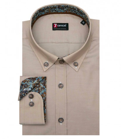 Shirt Leonardo Oxford Beige