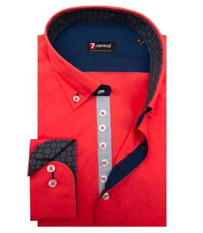 Shirt Donatello poplin Coral