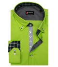 Camicia Donatello Popeline stretch Verde
