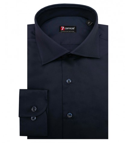 Chemises Firenze Satin Bleu