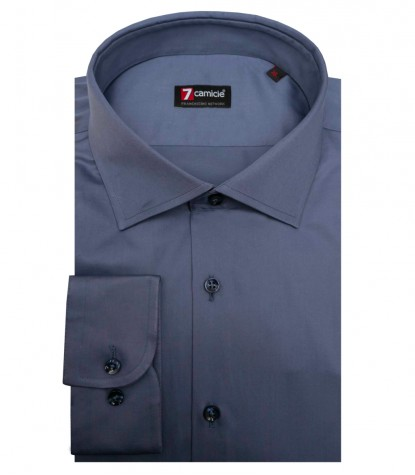 Camicia Firenze Satin Blu avion