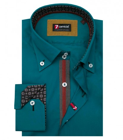Shirt Roma Cotton Teal Green