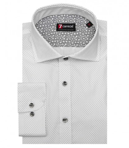 Shirt Raffaello Cotton White Black