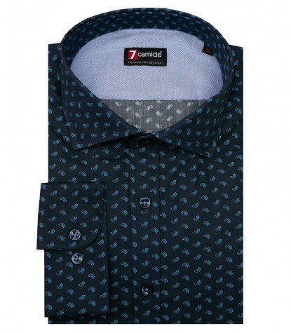 Shirt Raffaello Cotton Blue Avion Blue