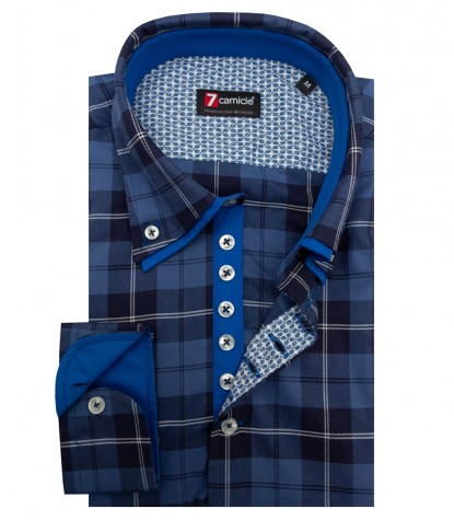 Chemises Donatello Oxford Bleu clair Bleu