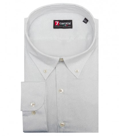 Shirt Leonardo Poplin WhiteLight Grey