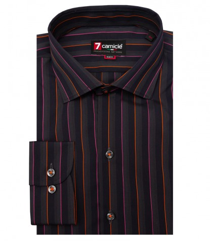 Shirt Firenze Weaved BROWN AND PINK