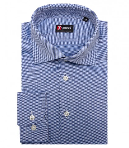 Shirt Firenze Weaved Blue ink White