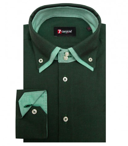Shirt Marco Polo Oxford Dk Green