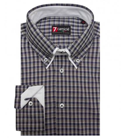 Shirt Marco Polo Cotton Lite GrayBlue