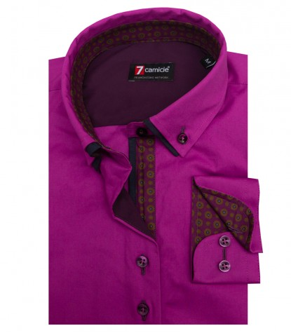 Shirt Linda stretch poplin Cyclamen Purple