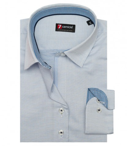 Shirt Linda jacquard White Light Blue