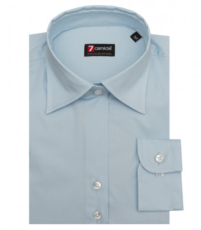 Shirt Linda stretch poplin Light Blue