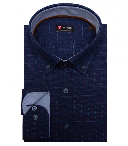 Shirt Leonardo Cotton Dark Blue Avion