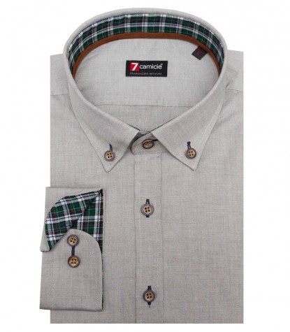 Shirt Leonardo Oxford Green olive