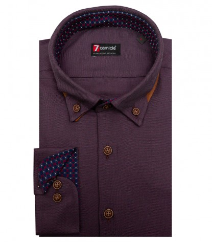 Shirt Donatello Weaved Brown Black