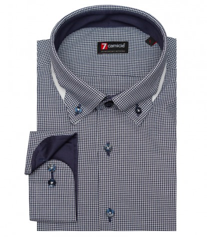 Shirt Donatello jacquard White Black