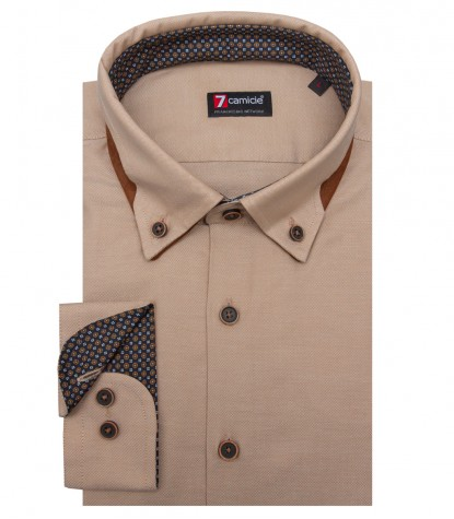 Chemises Donatello Oxford Beige