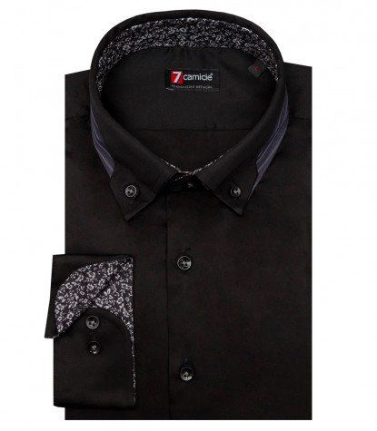 Camicia Donatello Satin Nero