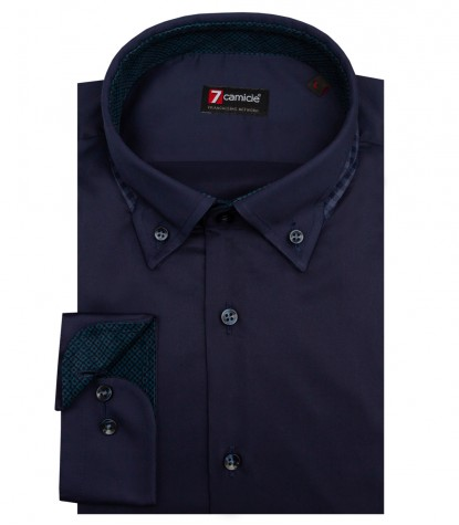 Shirt Donatello Satin Blue