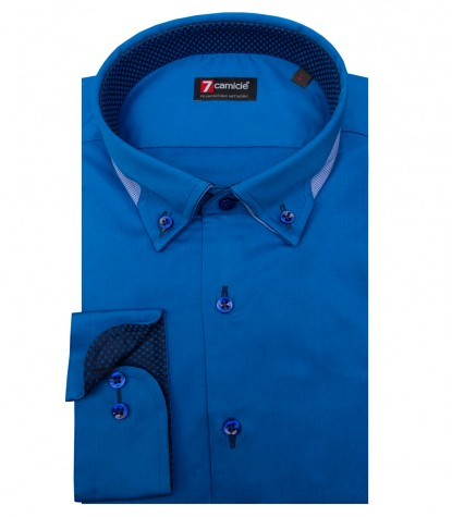 Shirt Donatello Satin Light Blue