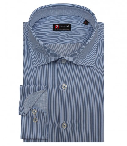 Shirt Firenze Cotton Blue ink White