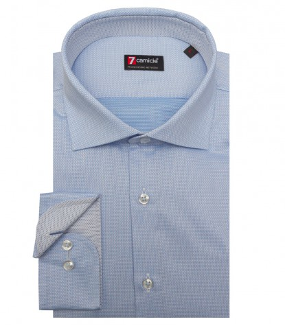 Shirt Firenze jacquard Light Blue White
