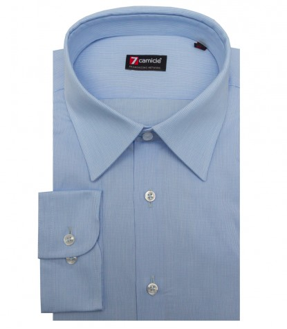 Shirt Romeo jacquard Light Blue White