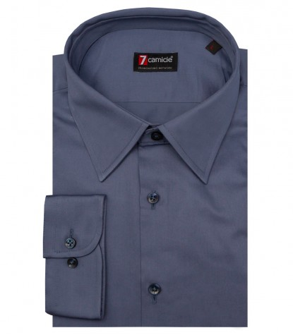 Shirt Romeo Satin Avion Blue
