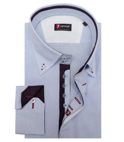 Shirt Roma Cotton WhiteBlue