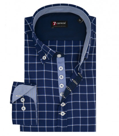 Camisas Donatello Oxford AzulBlanco