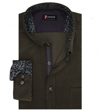 Shirt Men full color Green olive