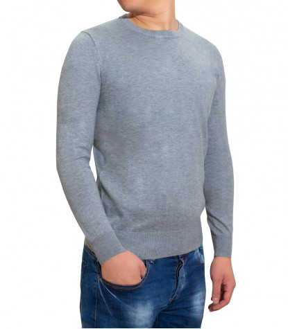 Men's Gray Crewneck Sweater