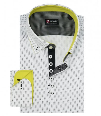 Shirt Donatello Cotton White Black