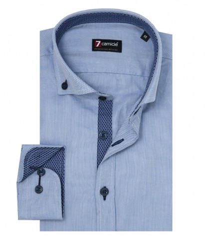 Shirt Leonardo stretch poplin Liliac