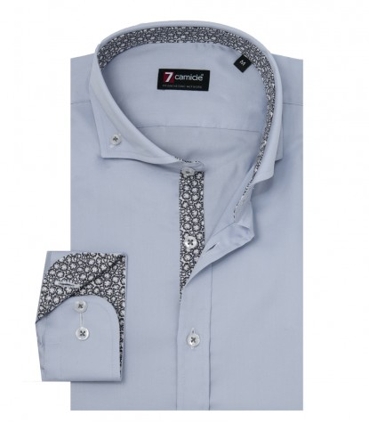 Shirt Leonardo Satin Grey