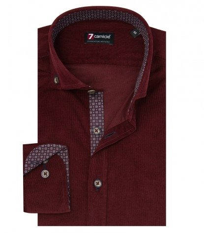 Shirt Men full color Dk Red