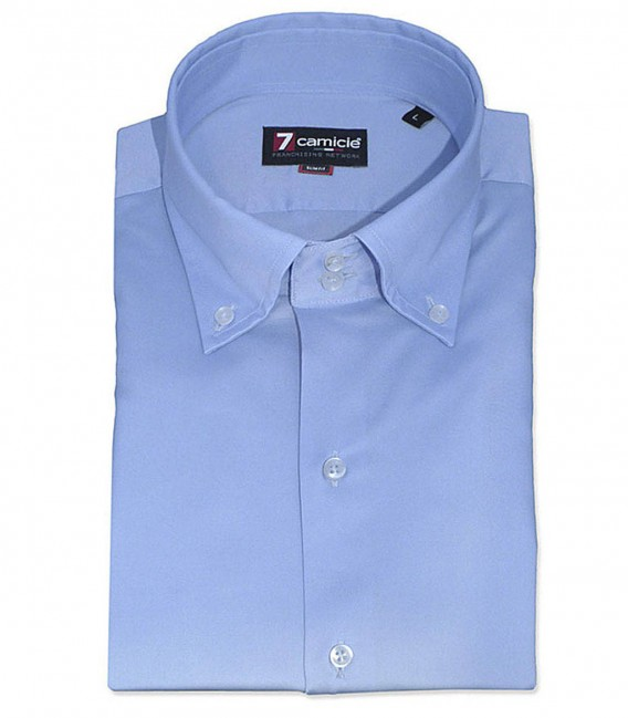 Shirt Roma Satin Light Blue