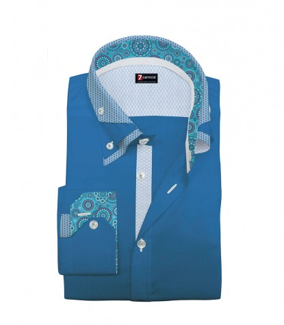 Shirt Vesuvio Satin Sky Blue