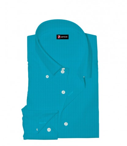 Shirt Roma Linen Light Turquoise