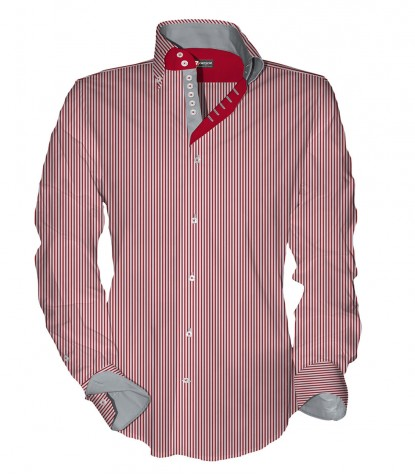 Shirt Roma Cotton Polyester Red White