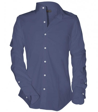 Shirt Romeo Cotton Polyester Avion Blue