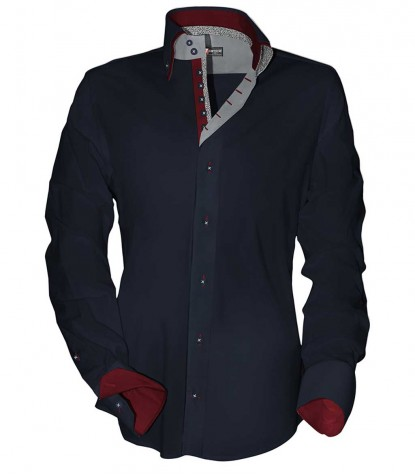 Shirt Marco Polo Satin Blue
