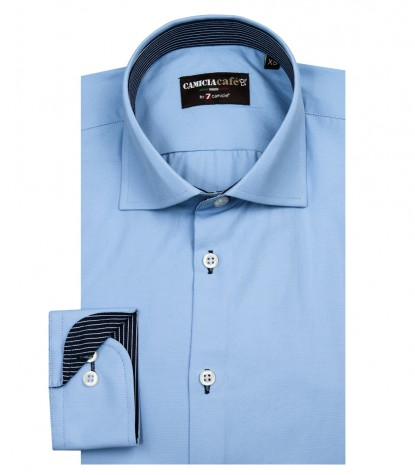 Shirt Firenze Cotton Polyester Light Blue